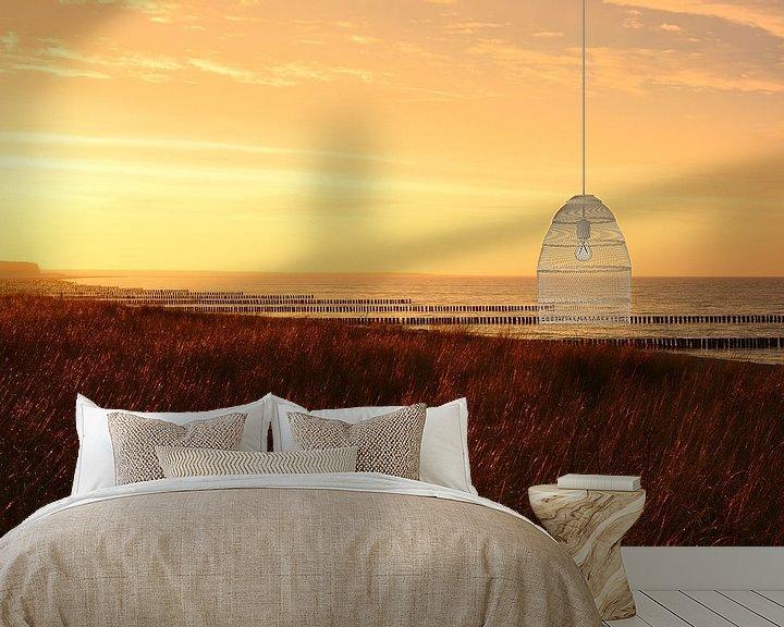 Beispiel fototapete: Goldenes Licht am Strand von Zingst von Gisela Scheffbuch