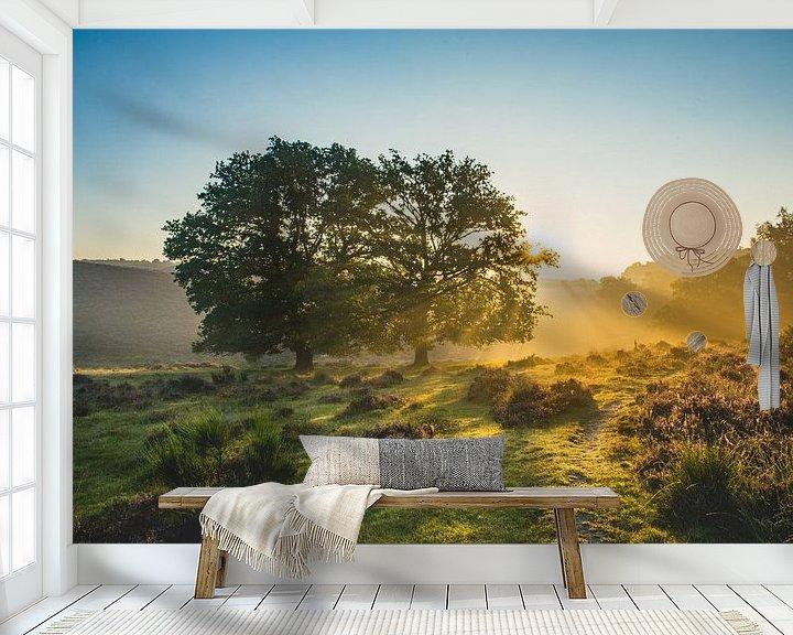 Sfeerimpressie behang: Laat zon maar goed stralen van Albert Lamme