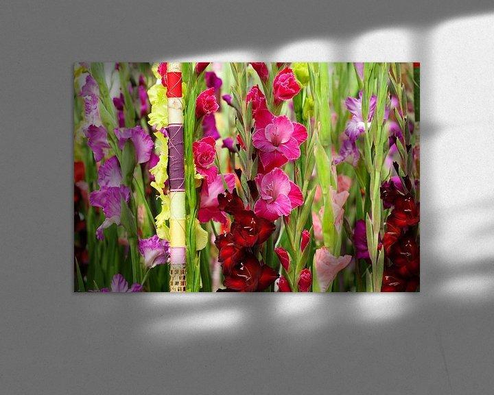 Sfeerimpressie: prachtige Gladiolen setting van Patricia Verbruggen
