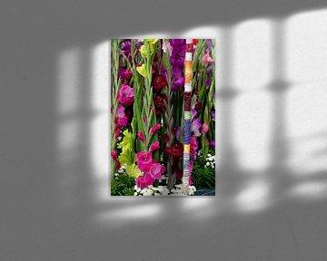 Gladiolen bloemstuk van Patricia Verbruggen