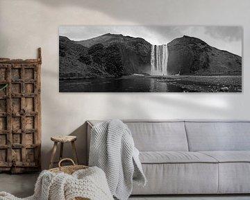 Panorama Skogafoss waterval IJsland