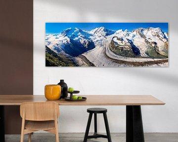 Panorama Gornergletscher in den Alpen