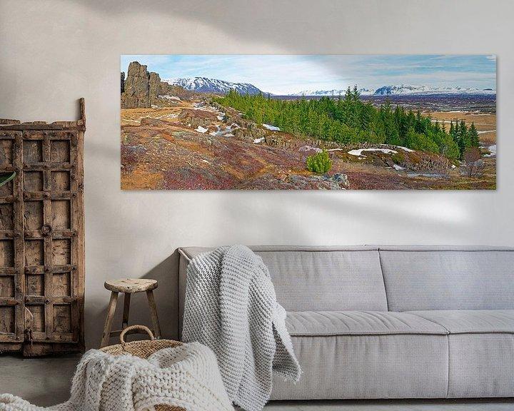Sfeerimpressie: Panorama bos in IJsland van Anton de Zeeuw