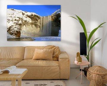 Skógafoss waterval van Gert-Jan Siesling