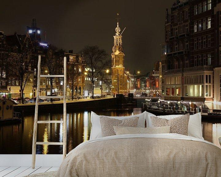 Impression: Amsterdam la nuit avec Westertoren sur Paul Franke