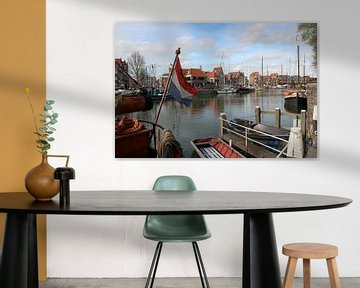 Oude vissershaven van Hoorn Noord-Holland