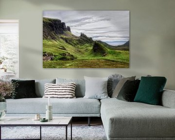 Landschap in de Quiraing, Schotland. von Edward Boer