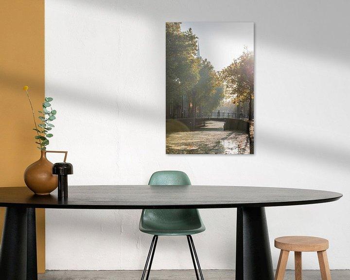 Impression: Automne à Gouda. Pont sur le Gouwe. sur Remco-Daniël Gielen Photography