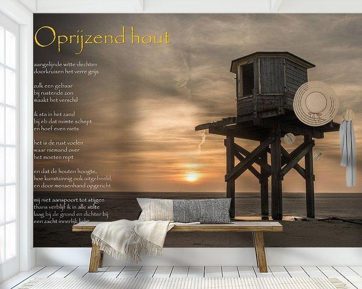 Sfeerimpressie behang: Oprijzend hout van Gerry van Roosmalen
