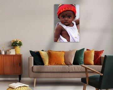 Klein meisje in Sri Lanka van Gert-Jan Siesling