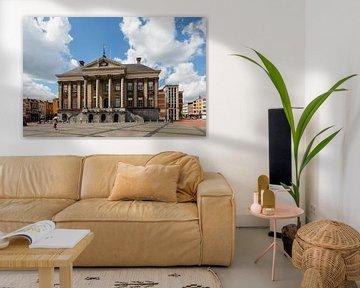 Stadhuis van Groningen aan De Grote Markt, Nederland van Martin Stevens