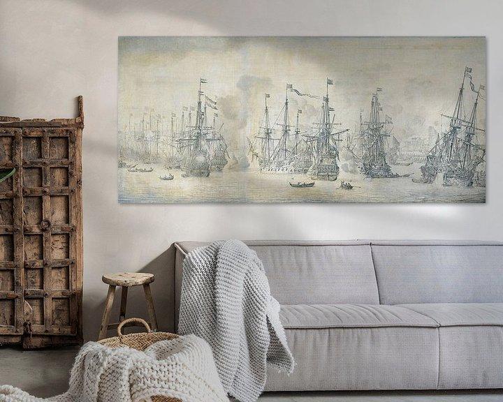 Sfeerimpressie: Mislukte Engelse aanval op de VOC vloot