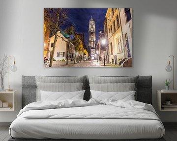 Dom Toren vanaf Zadelstraat in Utrecht von Dimitri van Beerschoten