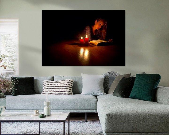 Sfeerimpressie: Lezen met kaarslicht van Anton de Zeeuw