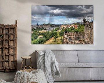 Regen boven Edinburgh von Jan Kranendonk