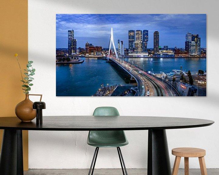 Sfeerimpressie: Skyline Rotterdam by Night  - Rotterdams Finest !  Kleur van Sylvester Lobé