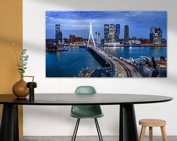 Skyline Rotterdam by Night  - Rotterdams Finest !  Kleur van Sylvester Lobé