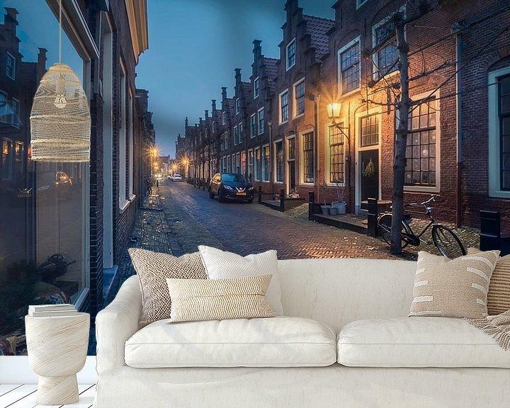 Sfeerimpressie behang: Haarlem: Provenierswoningen. van Olaf Kramer