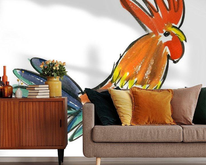 Sfeerimpressie behang: Le Cock! van Hans Kool