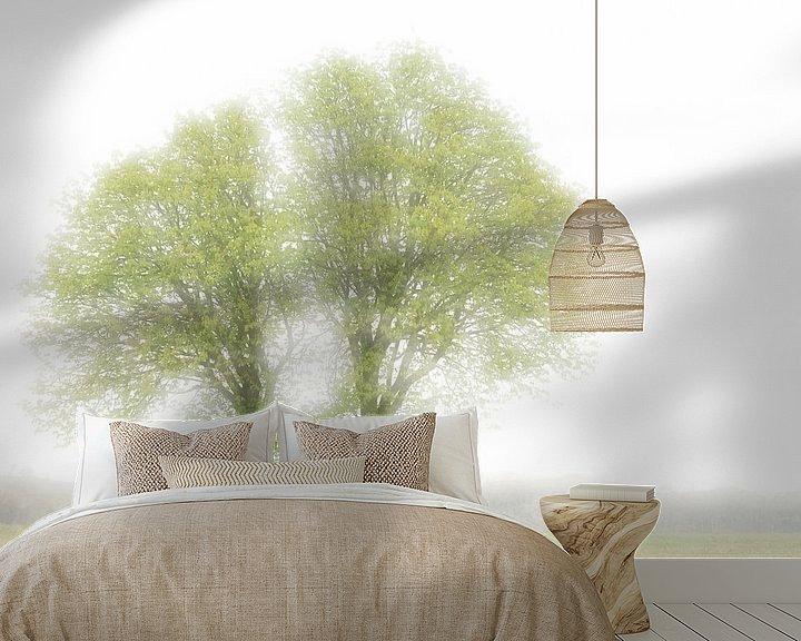 Beispiel fototapete: Twin trees during spring von Boudewijn Swanenburg