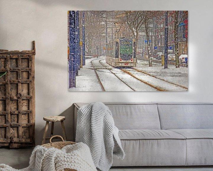Sfeerimpressie: Winter op de Mauritsweg van Frans Blok