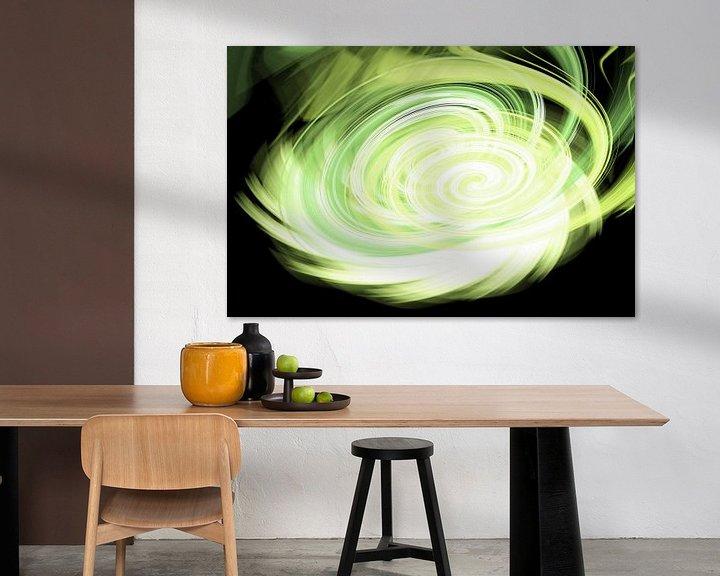 Sfeerimpressie: Green twirl van Patricia Verbruggen