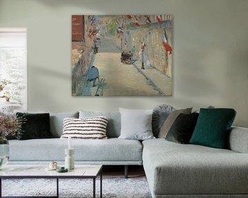 Rue Mosnier mit Fahnen - Edouard Manet