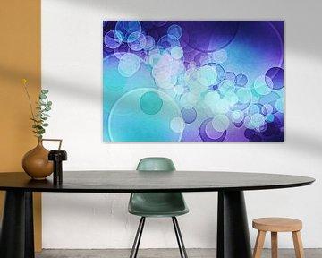 bokeh purple aqua blue van Patricia Verbruggen