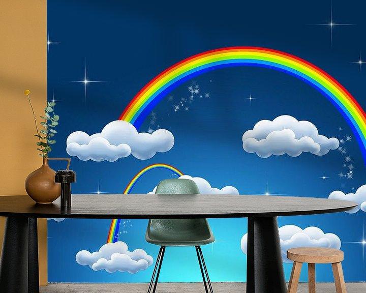 Sfeerimpressie behang: rainbow clouds van Patricia Verbruggen