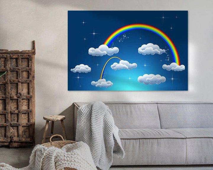 Sfeerimpressie: rainbow clouds van Patricia Verbruggen