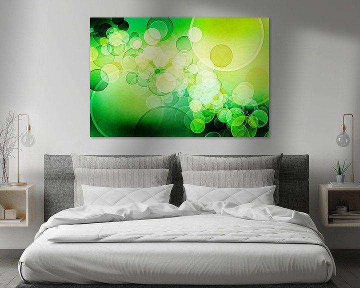 Sfeerimpressie: Bokeh lime green van Patricia Verbruggen