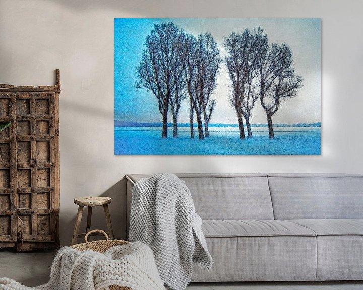 Sfeerimpressie: Winterbeeld Kralingse Plas van Frans Blok