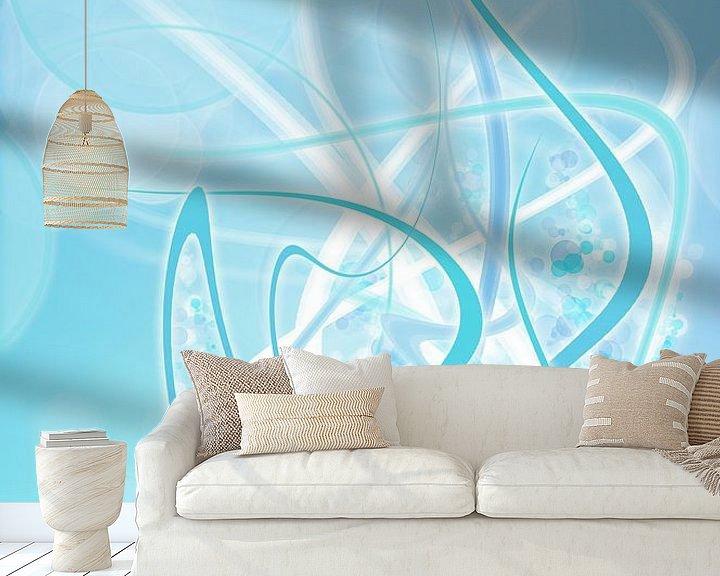 Beispiel fototapete: icey blue twirls von Patricia Verbruggen