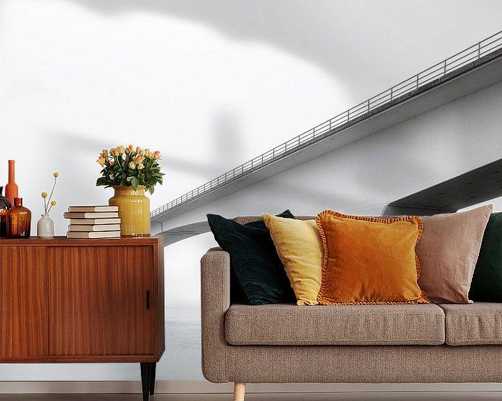 Sfeerimpressie behang: Bridge to the Other Side van Cho Tang