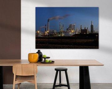 Industrie op de Maasvlakte bij Rotterdam