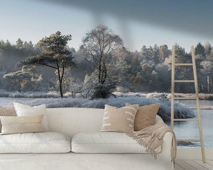 Impression: un paysage hivernal avec du gel sur ChrisWillemsen