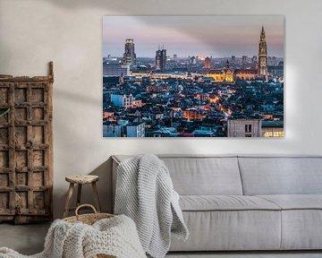Antwerpen city by night van Renzo Gerritsen