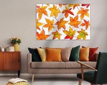 Herbstblätter in auffälligen Farben im Herbst Saison von Ben Schonewille