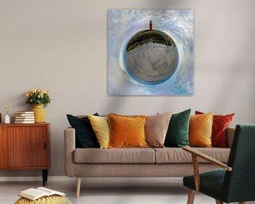 Tiny Planet Vuurtoren Eierland Texel von Texel360Fotografie Richard Heerschap