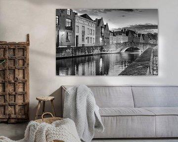 Brugge,  Koningsbrug en Spiegelrei von Michel De Pourcq
