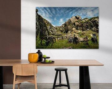Verlaten marmergroeve op Iona, Schotland van Atelier van Saskia
