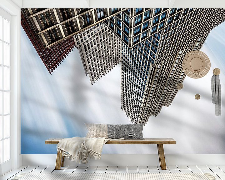 Sfeerimpressie behang: A World Collapsing van Cho Tang