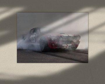Mustang-burnout sur marco de Jonge