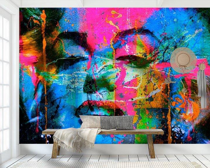 Beispiel fototapete: Marilyn Monroe Collage Pop Art PUR 1 von Felix von Altersheim