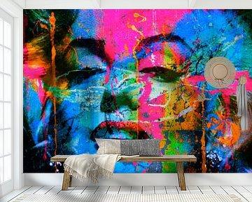 Marilyn Monroe Collage Pop Art PUR 1 van Felix von Altersheim