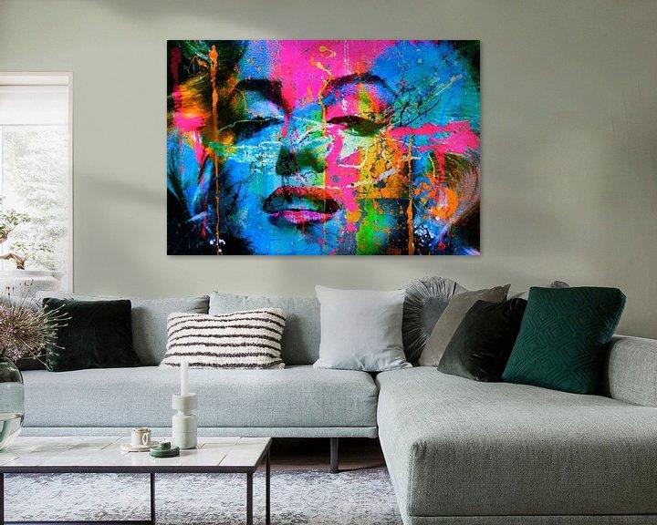 Beispiel: Marilyn Monroe Collage Pop Art PUR 1 von Felix von Altersheim