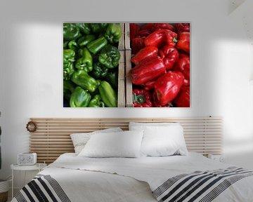 Groen of rood van Wim Demortier