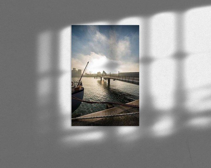Sfeerimpressie: Rijnhaven Rotterdam met de Rijnhavenbrug van Rob van der Teen