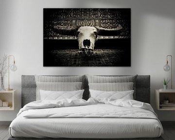 Indonesië - buffelschedel von Wim Demortier