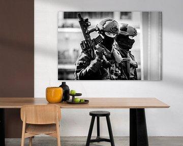 BBE Mariniers na de oefening Portdefender Rotterdam van Maurice Verschuur